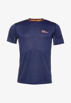 MIT KURZEN ÄRMELN - T-Shirt basic - dark navy