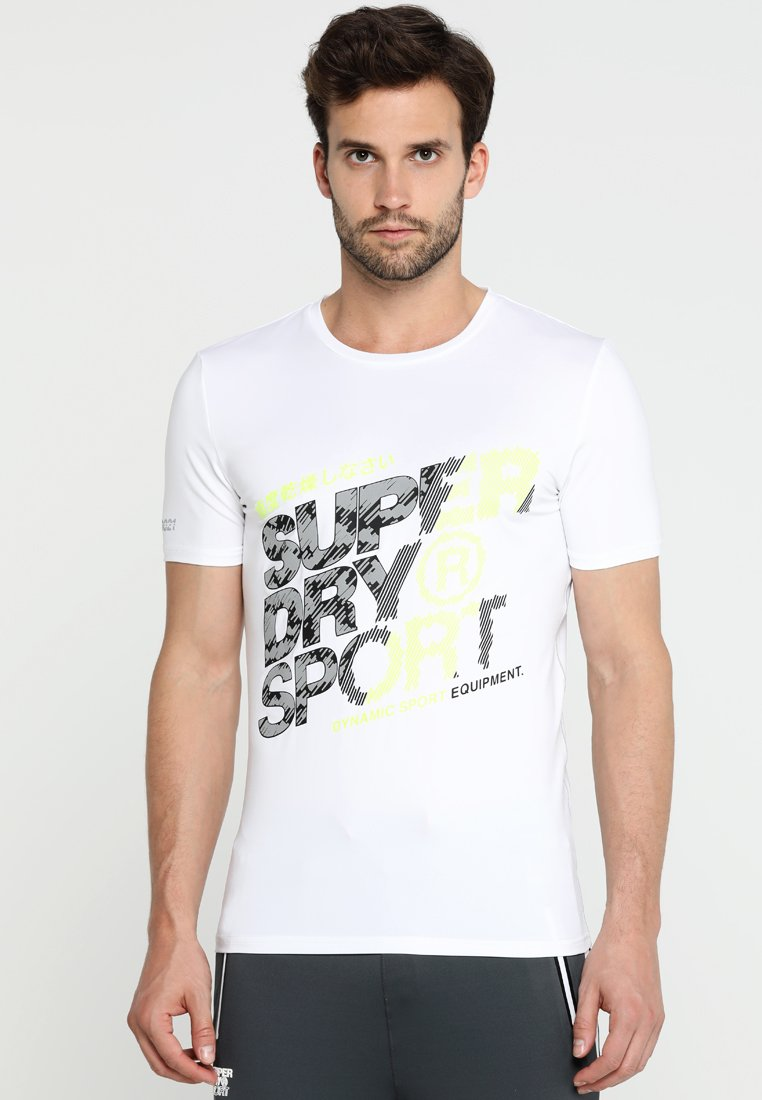 Superdry - ACTIVE GRAPHIC TEE - T-shirt print - white