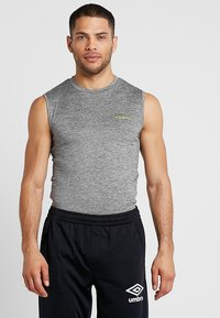 Superdry - ACTIVE SMALL LOGO GRAPHIC TANK - Funktionsshirt - monogranite marl - 0