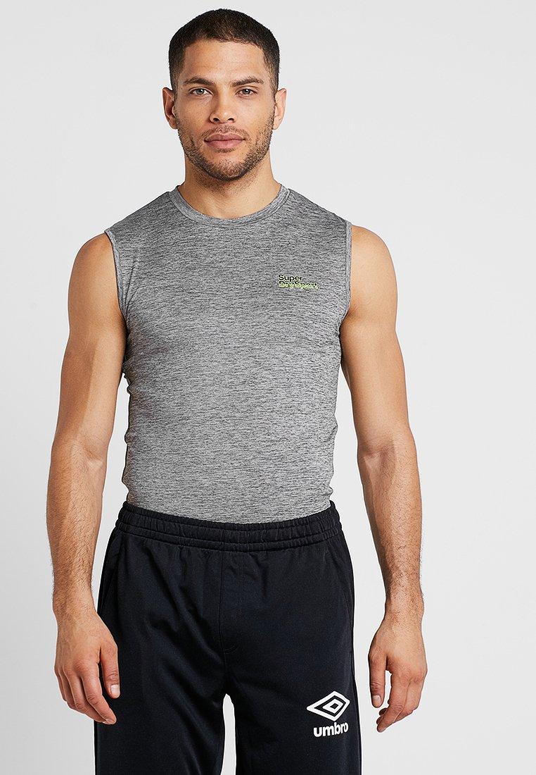 Superdry - ACTIVE SMALL LOGO GRAPHIC TANK - Sports shirt - monogranite marl