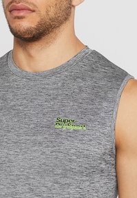 Superdry - ACTIVE SMALL LOGO GRAPHIC TANK - Funktionsshirt - monogranite marl - 3