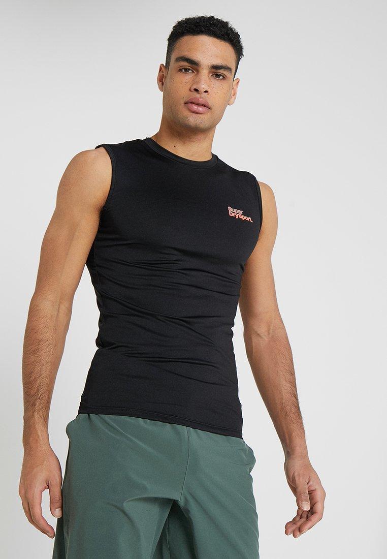 Superdry - ACTIVE SMALL LOGO GRAPHIC TANK - Koszulka sportowa - black