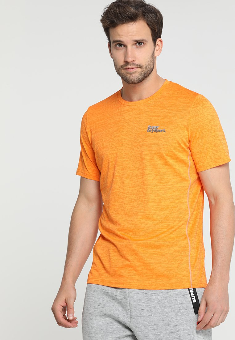 Superdry - ACTIVE TRAINING TEE - T-Shirt print - bright orange space dye