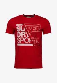 Superdry - CORE - Print T-shirt - red - 5