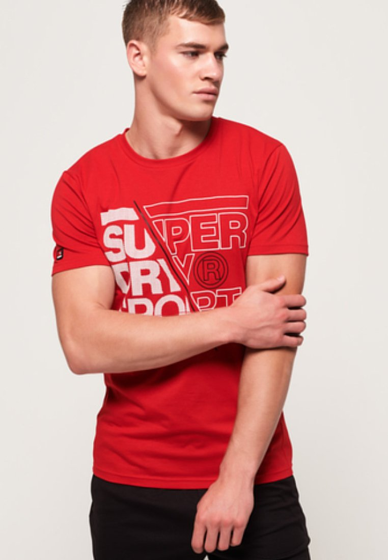 Superdry - CORE - Print T-shirt - red