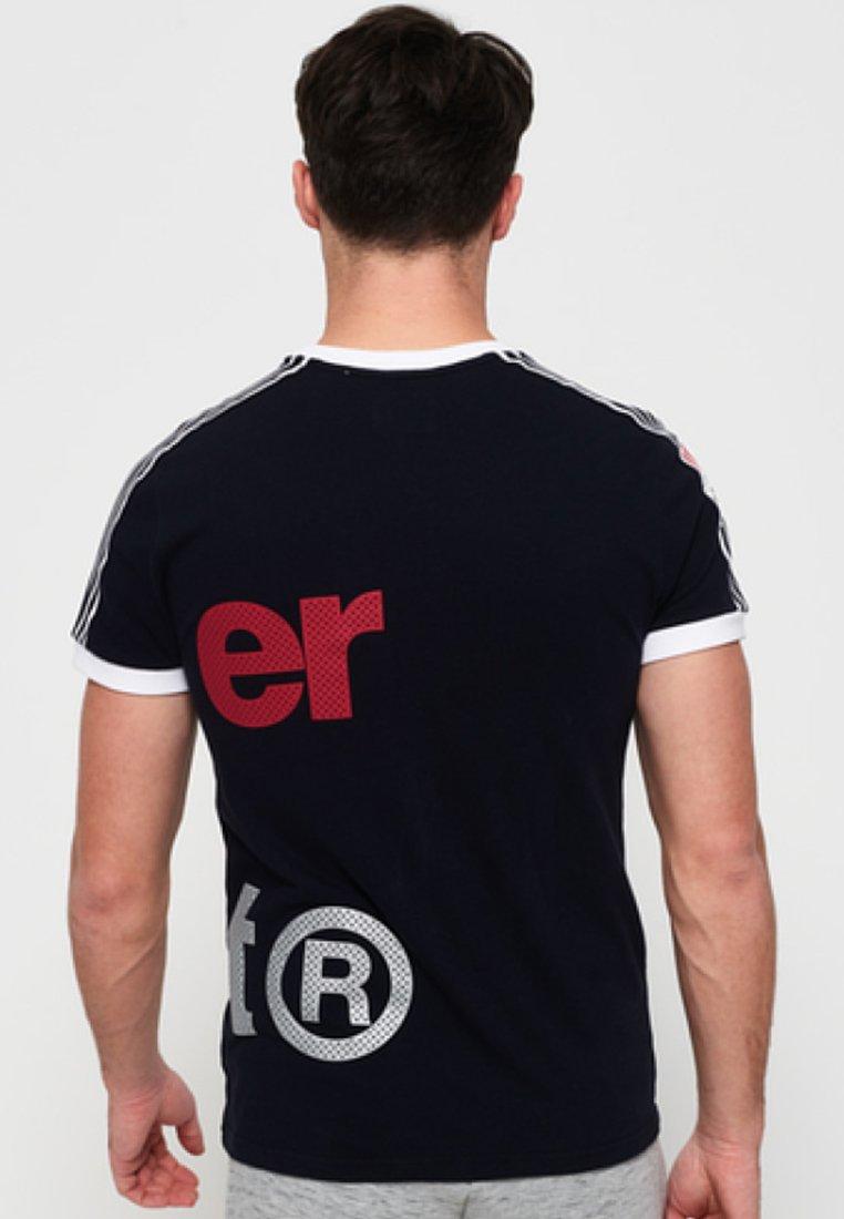 Superdry AthleticoT shirt Imprimé Blue Dark qVGSzMUp