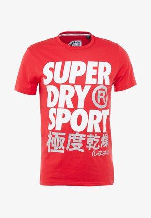 LIGHTNING STRIKE TEE - T-shirt med print - red