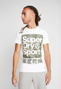 Superdry - HAZARD BOX TEE - Print T-shirt - white - 0