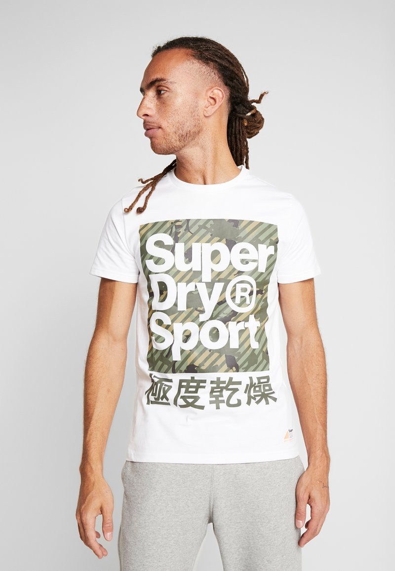 Superdry - HAZARD BOX TEE - Print T-shirt - white
