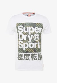 Superdry - HAZARD BOX TEE - Print T-shirt - white - 4
