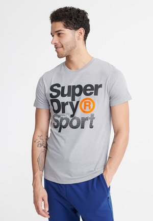 T-Shirt print - grey marl