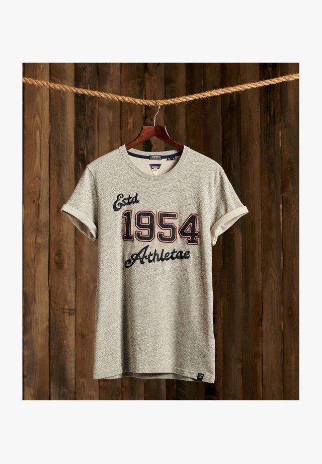VINTAGE APPLIQUE - T-shirt imprimé - soft grey marl