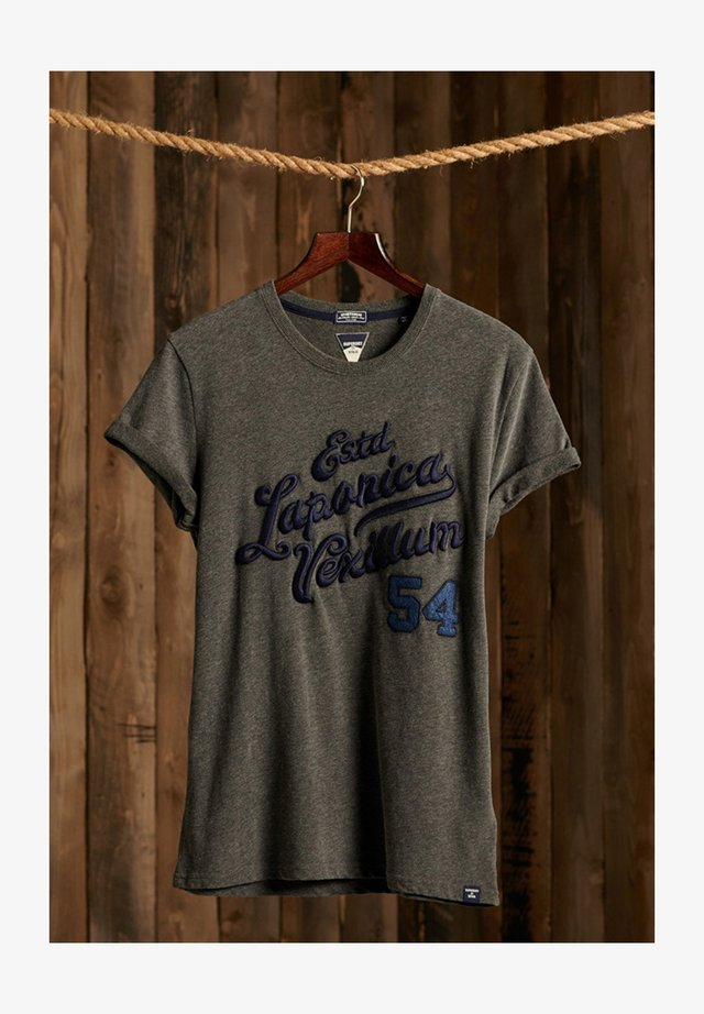 VINTAGE APPLIQUE - T-shirt imprimé - charcoal marl