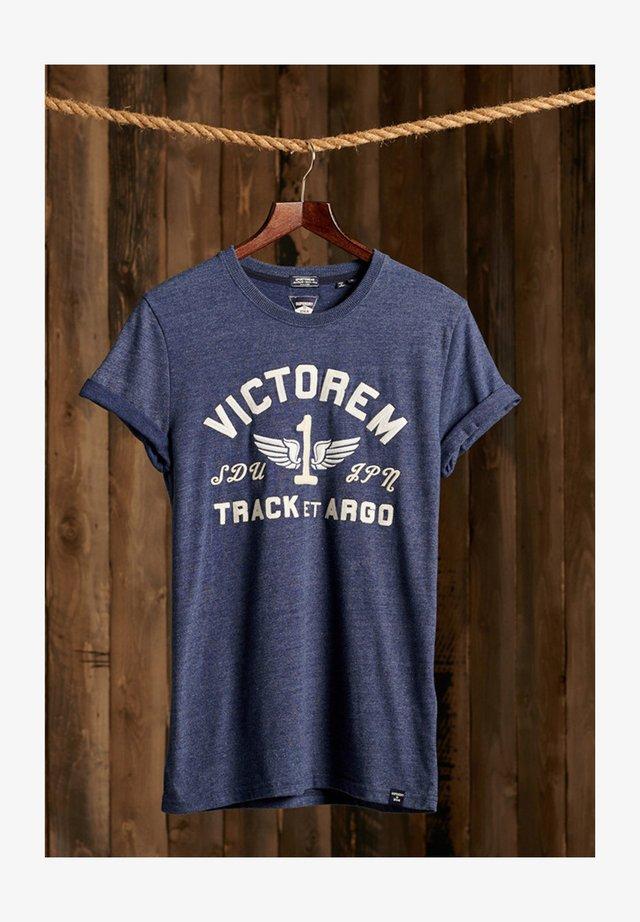 VINTAGE APPLIQUE - T-shirt imprimé - princedom blue marl