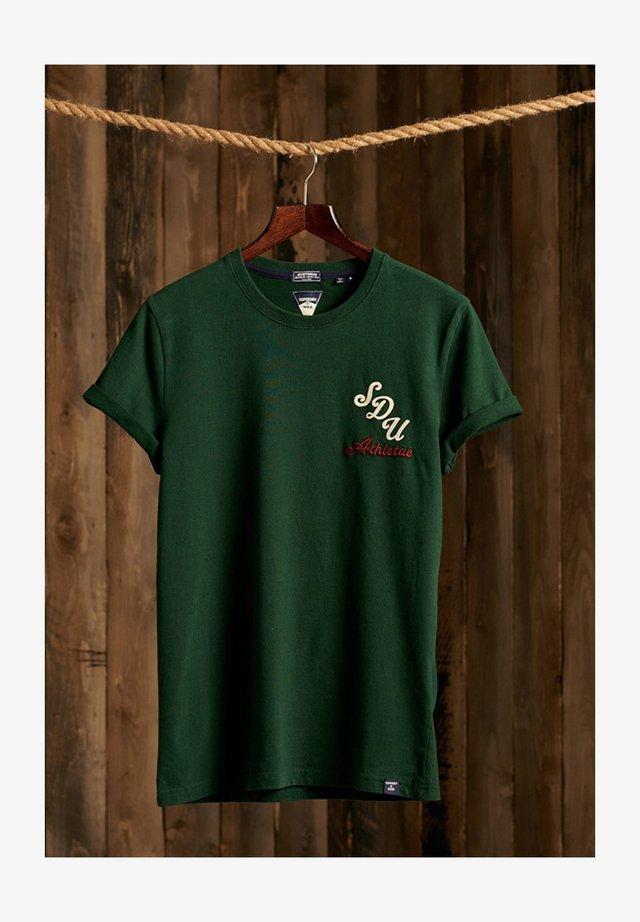 VINTAGE APPLIQUE - T-shirt med print - enamel green