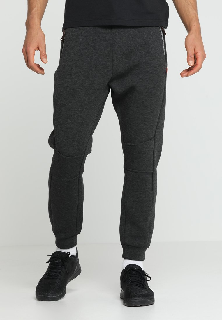 Superdry - GYM TECH - Tracksuit bottoms - carbon
