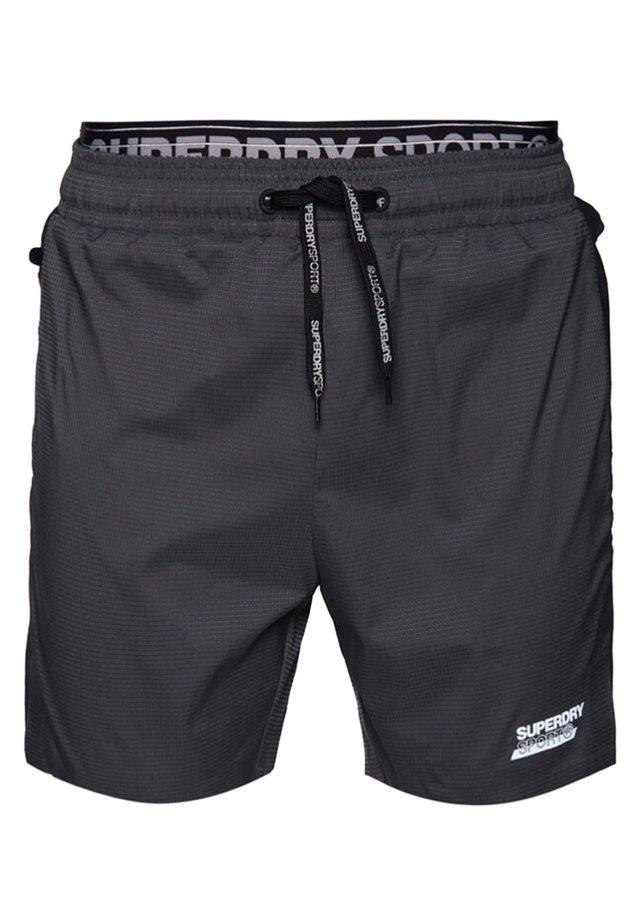 DOPPELLAGIGE ACTIVE SHORTS - Shorts - asphalt/schwarz
