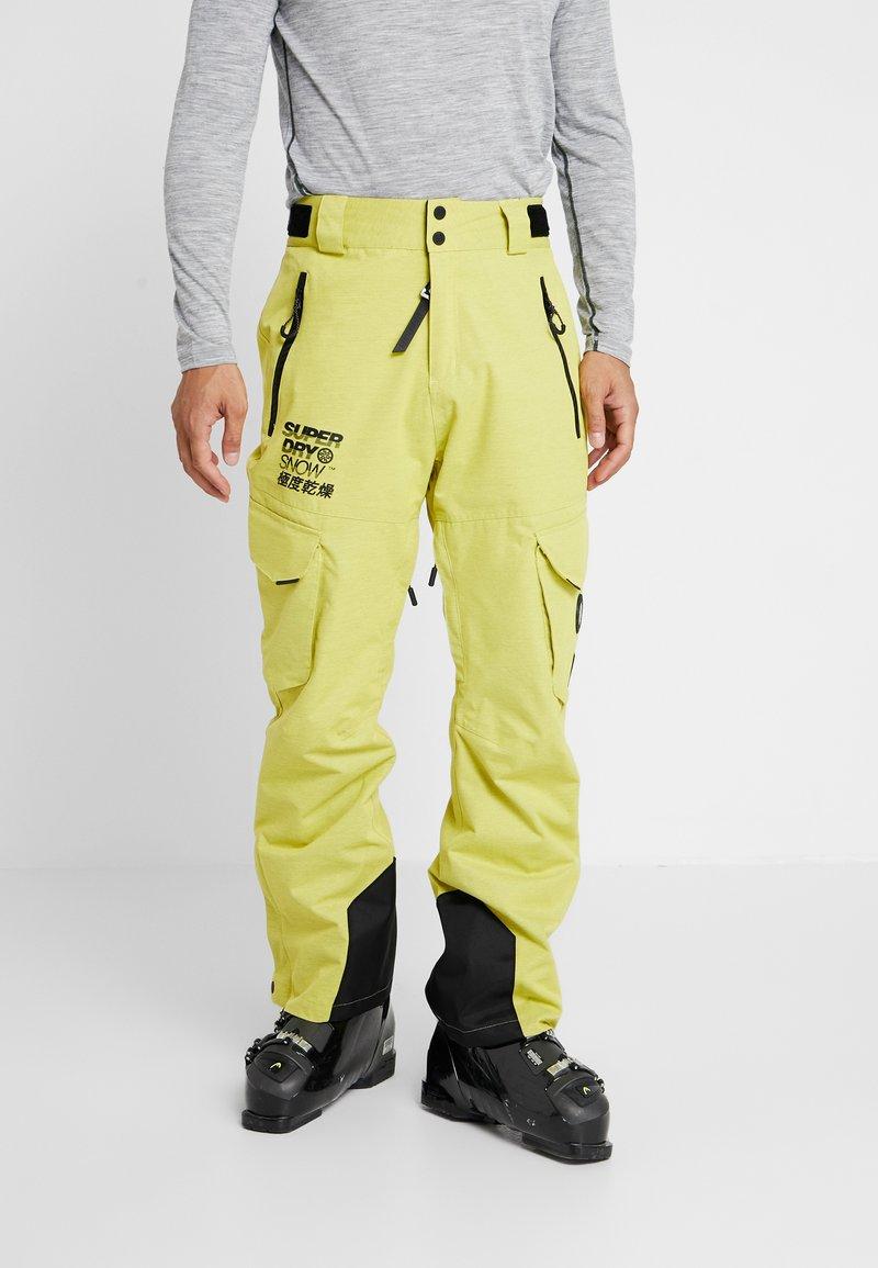 Superdry - ULTIMATE SNOW RESCUE PANT - Pantalon de ski - sulpher yellow