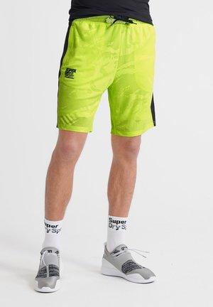 TRAINING BREATHABLE CAMO  - kurze Sporthose - luminous yellow