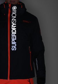 Superdry - SUPER MULTI JACKET - Kurtka narciarska - scratch black - 5