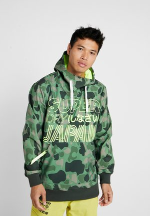 SNOW TECH HOOD - Kuoritakki - green/black