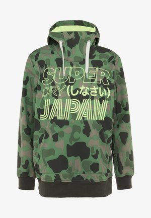 SNOW TECH HOOD - Softshelljas - green/black