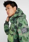 Superdry - SNOW TECH HOOD - Softshelljas - green/black