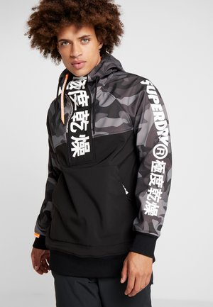 SNOW TECH JAPAN EDITION HOOD - Soft shell jacket - flat black