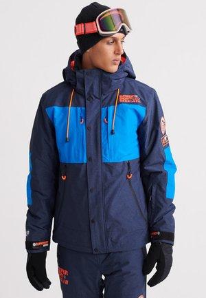 MOUNTAIN JACKET - Ski jacket - navy marl/acid cobalt