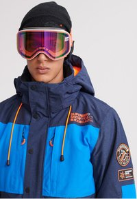 Superdry - MOUNTAIN JACKET - Skidjacka - navy marl/acid cobalt - 3