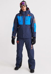 Superdry - MOUNTAIN JACKET - Skidjacka - navy marl/acid cobalt - 1