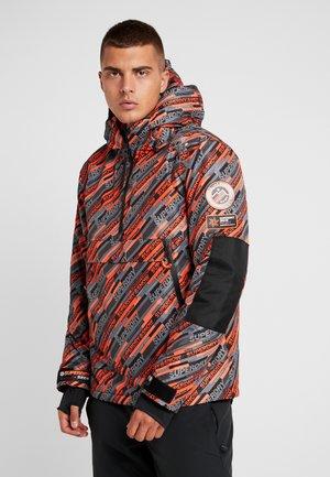 Ski jacket - orange/grey