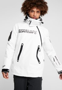 Superdry - SNOW RESCUE OVERHEAD JACKET - Laskettelutakki - arctic white - 0