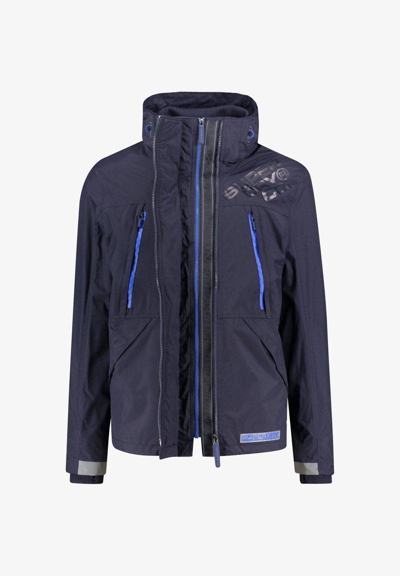 Superdry - HOODED POLAR WIND ATTACKER - Training jacket - dark blue