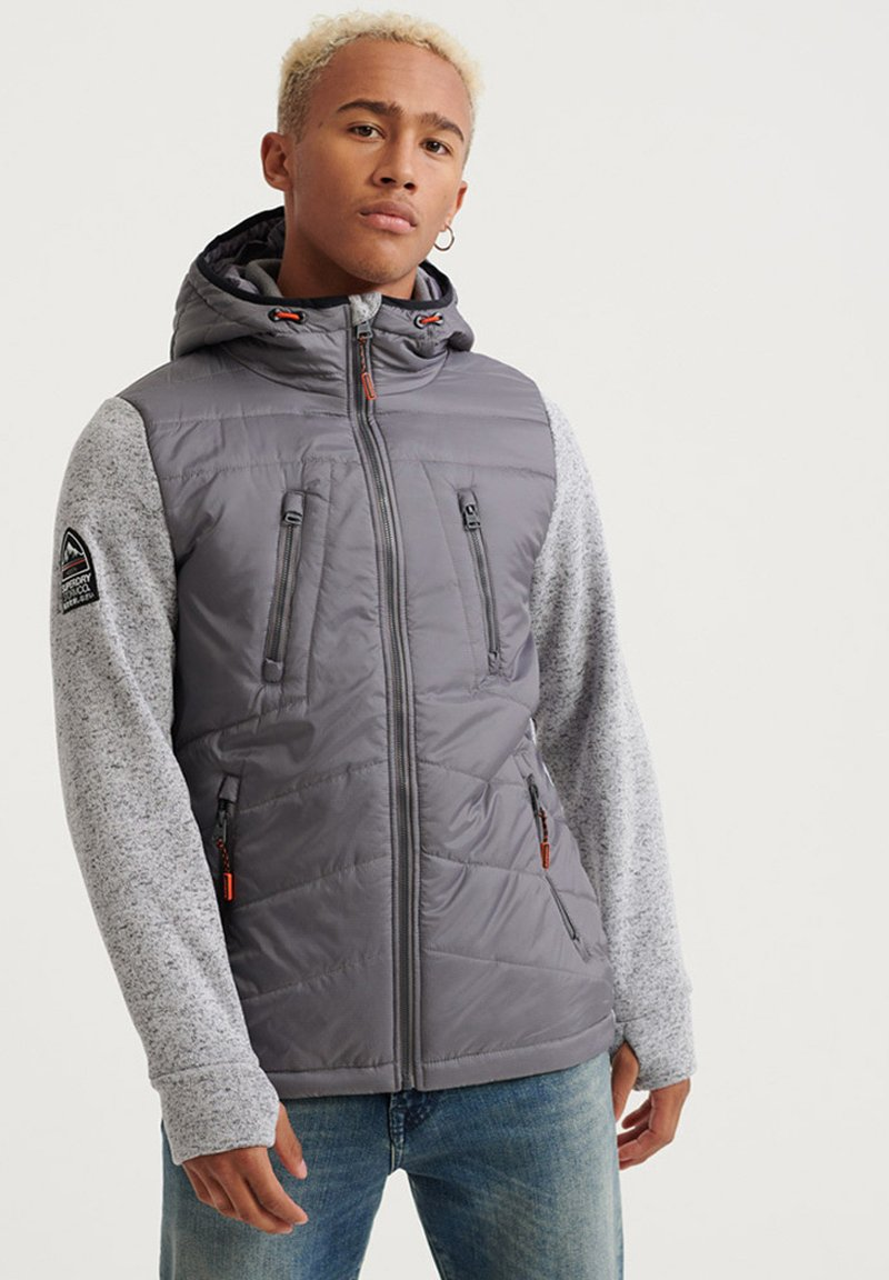 Superdry - STORM HYBRID  - Veste softshell - silver heather marl