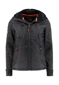 Superdry - STORM HYBRID  - Soft shell jacket - black - 4