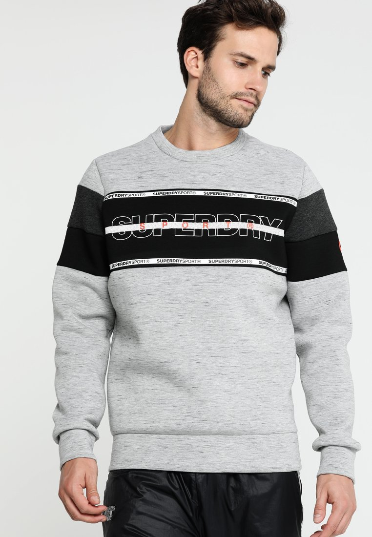 Superdry - GYM TECH - Sweatshirt - city grey granite/black