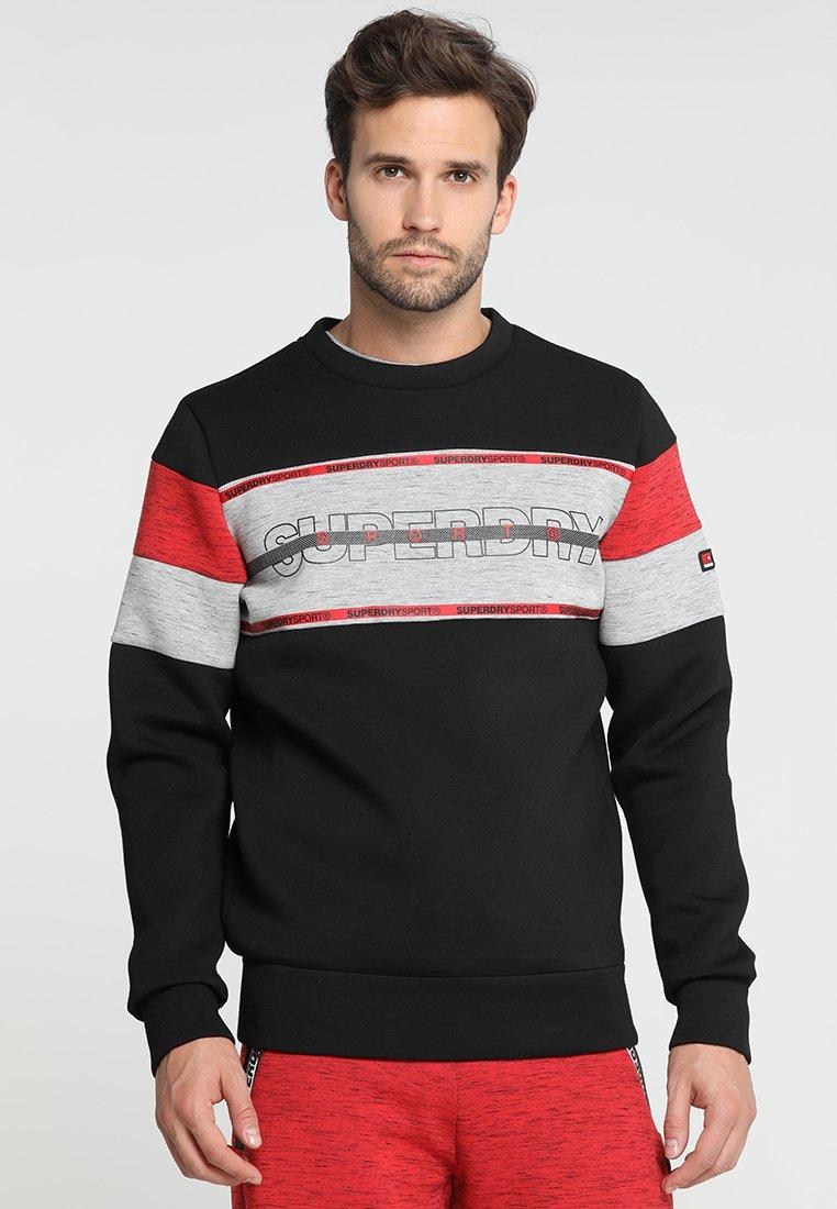 Superdry - GYM TECH - Sweater - black/city grey granite
