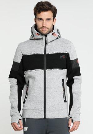 GYM TECH STRETCH BLOCK - veste en sweat zippée - city grey granite