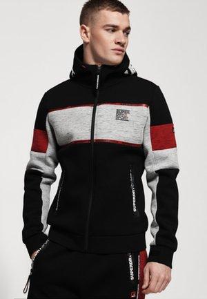 GYM TECH STRETCH BLOCK - veste en sweat zippée - black