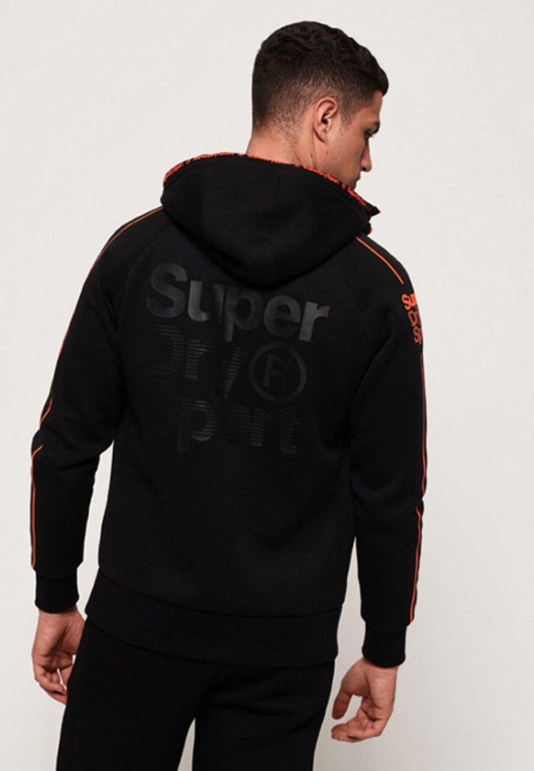 Superdry GYM TECH veste en sweat zippée black ZALANDO.FR
