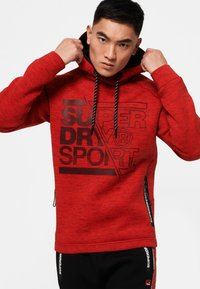 Superdry - Jersey con capucha - mottled red - 0