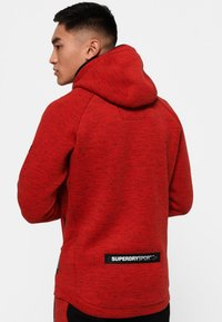 Superdry - Jersey con capucha - mottled red - 2