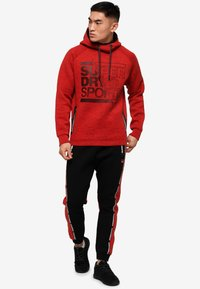 Superdry - Jersey con capucha - mottled red - 1