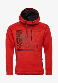 Superdry - Jersey con capucha - mottled red - 6