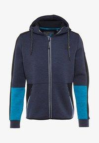 Superdry - GYMTECH COLOURBLOCK ZIPHOOD - veste en sweat zippée - darkest navy/aqua marl - 5