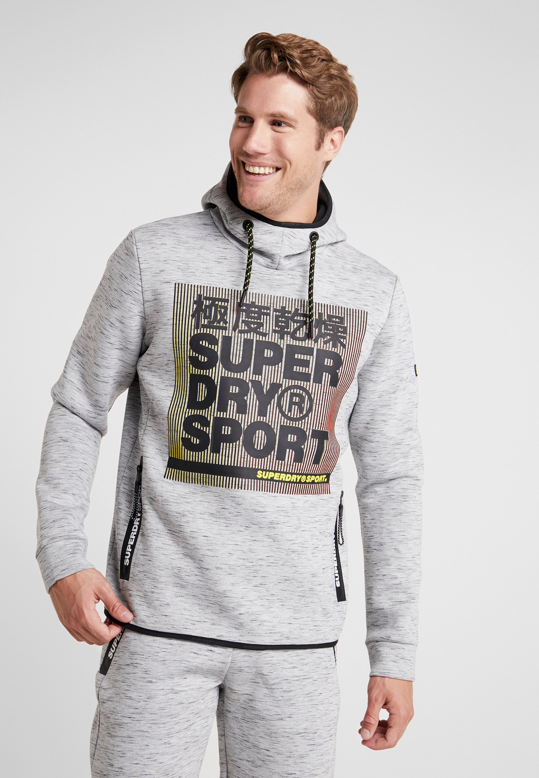 Core Gym À Marl OverheadSweat Light Tech Grey Superdry Capuche W2IbE9DYHe