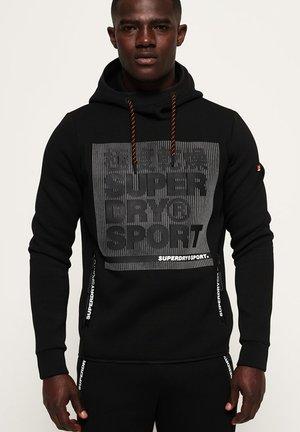 CORE GYM TECH OVERHEAD - Jersey con capucha - black