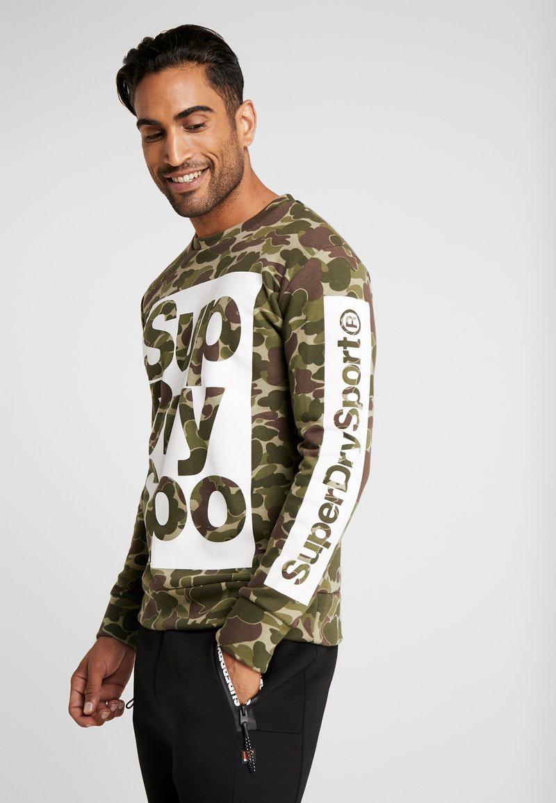Superdry - COMBAT BOXER CREW - Sweater - dark green