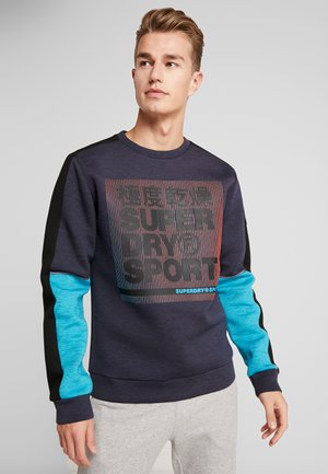 GYMTECH COLOURBLOCK CREW - Sudadera - darkest navy/aqua marl